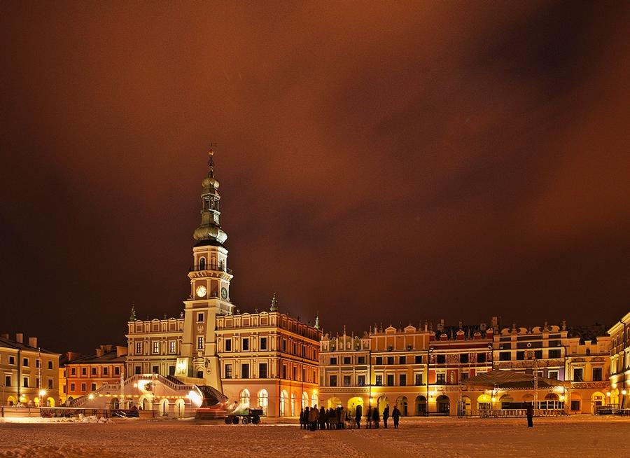Zamość Rynek Wielki Roztocze Polskie Krajobrazy