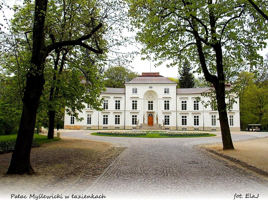 Warszawa Pałac Myślewicki W łazienkach Warszawa I Okolice