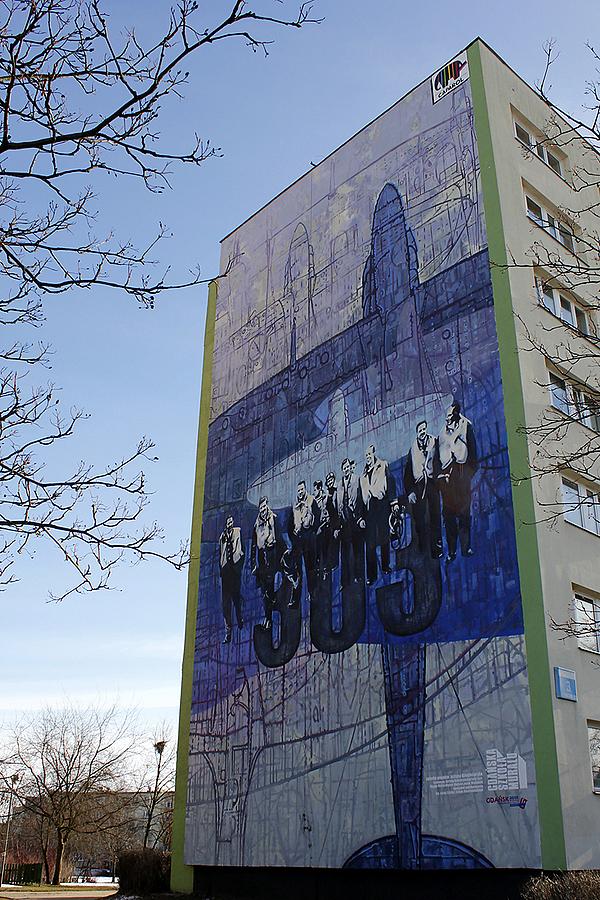 Patriotyczny mural - Dywizjon 303