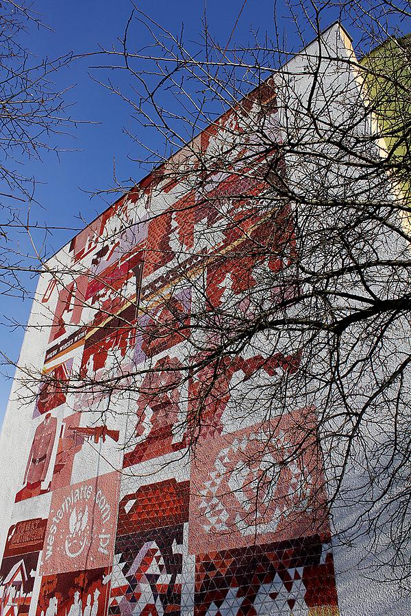 Patriotyczny mural - Westerplatte