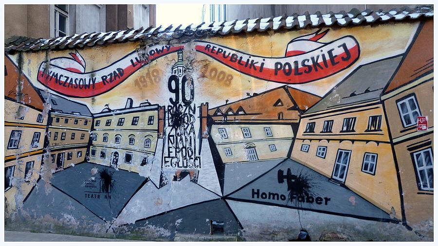 Patriotyczny mural - Niepodległość
